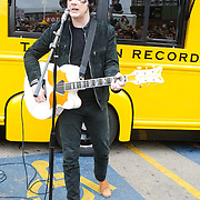 AUSTIN, TX - March 16th, 2011: Jack White performs in a parking lot  at the corners of 4th Street and Colorado Ave. in Austin, TX during the 2011 SXSW festival in Austin, TX.   (Photo by Kyle Gustafson/For The Washington Post)