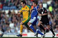 Photo: Rich Eaton.<br /> <br /> Cardiff City v Norwich City. Coca Cola Championship. 10/03/2007. Lee Croft left of Norwich and Stephen McPhail of Cardiff