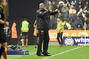 Wolverhampton Wanderers manager Nuno Espirito Santo gestures for a sub to be made 2-0 during the EFL Sky Bet Championship match between Wolverhampton Wanderers and Fulham at Molineux, Wolverhampton, England on 3 November 2017. Photo by Alan Franklin.