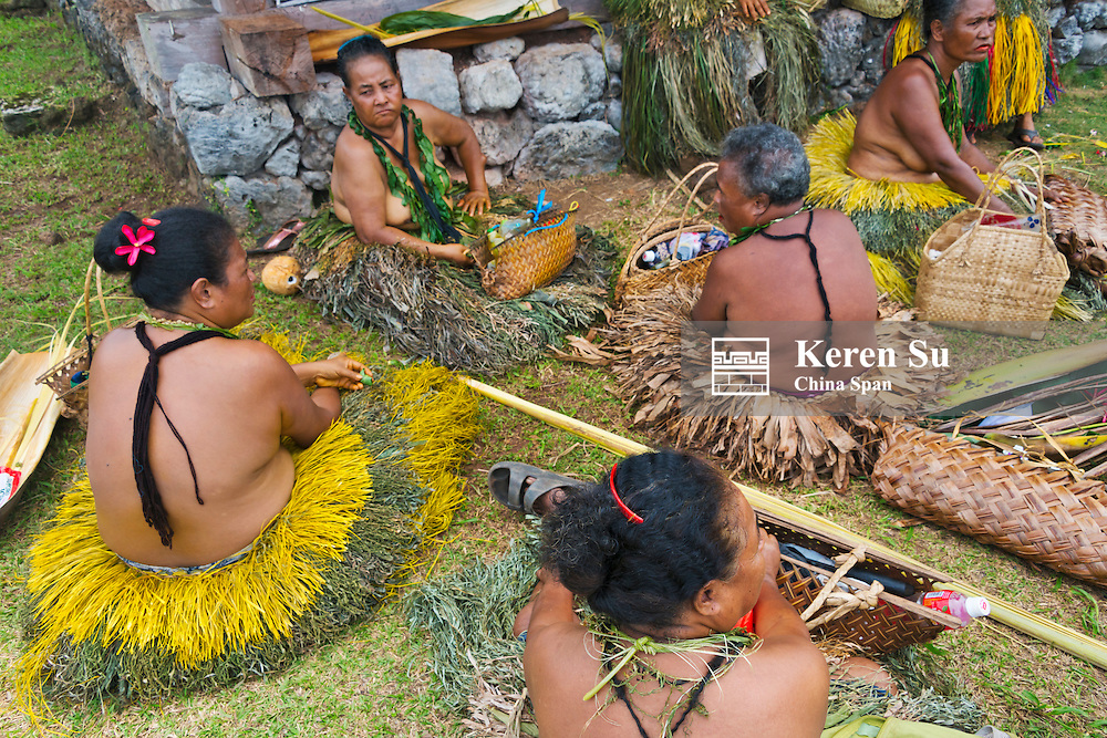 Yapese women in traditional clothing at Yap Day Festival, Yap Island, Federated States of Micronesia