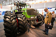 Hannover Messe 2005, the biggest annual industrial fair in the World..Russian Fendt treckers.
