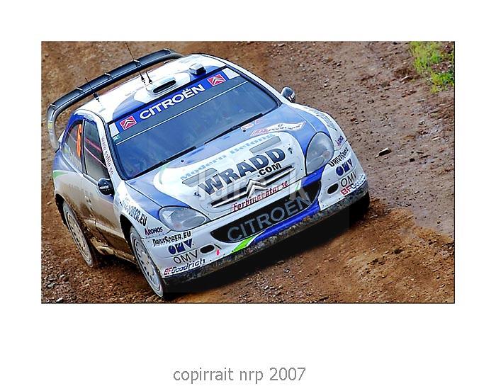 WRC PORTUGAL 2007 DANIEL CARLSSON<br /> CITRO&Euml;N XSARA WRC<br /> OMV KRONOS CITRO&Euml;N WRT