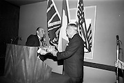 16/11/1966<br /> 11/16/1966<br /> 16 November 1966<br /> O'Brien Plastics Ltd., Bishopstown, Cork reception at the Intercontinental Hotel, Dublin to announce that Phillips Petroleum Company, Oklahoma U.S.A had acquired a 50% interest in O'Brien Plastics. Picture Shows (l-r): Mr. William O'Brien and Mr. Edwin Van der Bark, Phillips Petroleum Co. during the reception.
