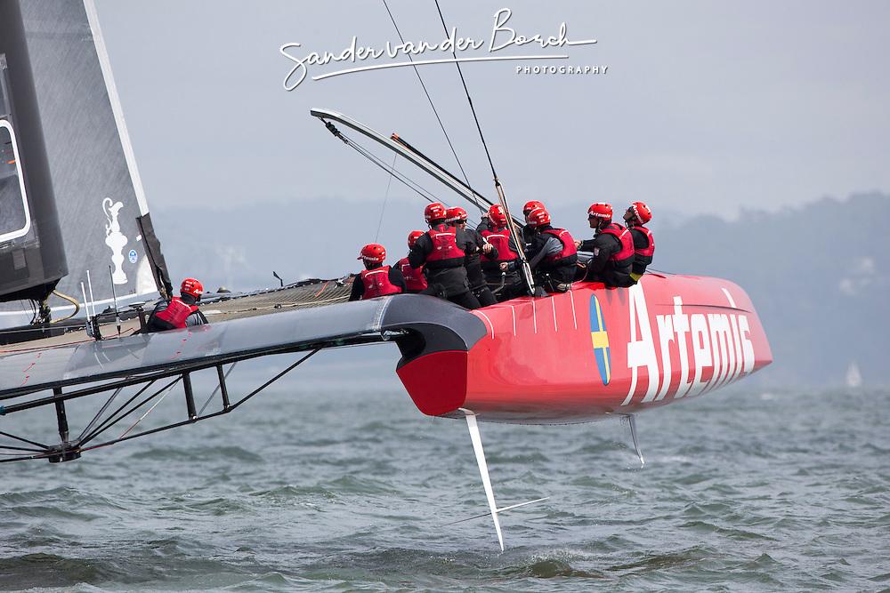 AC72 testing in San Francisco bay. Artemis Racing April 2013, Alameda, USA