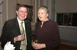 A reception to celebrate the arrival of Deborah Swallow as Director of the Courtauld Institute of Art was held at Somerset House, Strand, London on 9th December 2004.<br />Picture shows:- DR ALAN BORG and LADY HESELTINE.