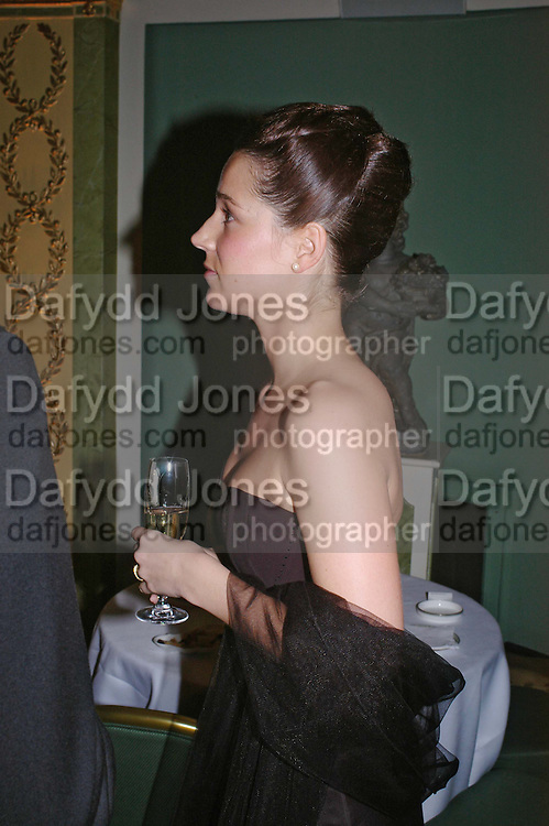 Andrea Wasescha. War and Peace charity Ball, Dorchester Hotel. Park Lane. London. 17 February 2005. ONE TIME USE ONLY - DO NOT ARCHIVE  © Copyright Photograph by Dafydd Jones 66 Stockwell Park Rd. London SW9 0DA Tel 020 7733 0108 www.dafjones.com