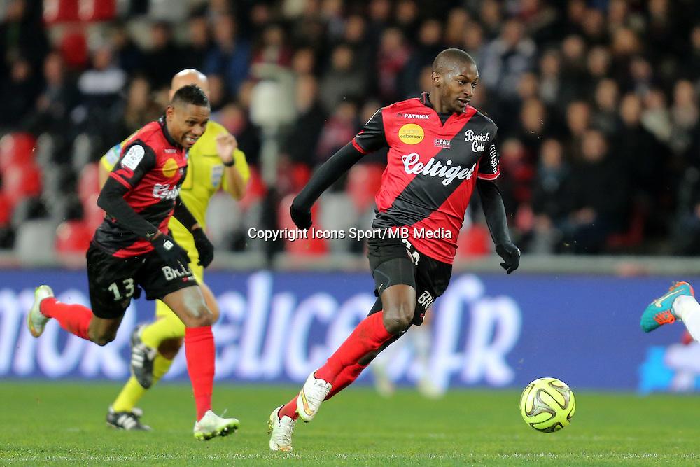 Younousse SANKHARE  - 24.01.2015 - Guingamp / Lorient - 22eme journee de Ligue1<br />Photo : Vincent Michel / Icon Sport *** Local Caption ***