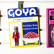 October 22, 2018 - New York, NY : The artist Morgan Phillips, who goes by Sucklord, creates 'bootleg' action figures -- a genre of mashup figurines that straddle the line between toys and art -- in his Canal Street studio in lower Manhattan. Sucklord incorporates pop culture and common brands -- such as GOYA TM -- into his packaging and character mashups. CREDIT: Karsten Moran for The New York Times