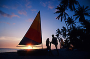 Sunset, Malolo Lailai, Mamanuca Islands, Fiji, Model Released