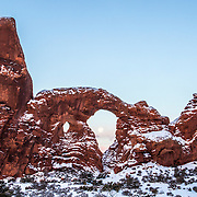 Turret Arche at sunrise in Arches National Park, Utah