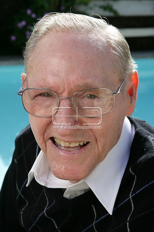 19th December 2008. Redondo Beach, California. Former professional basketball player and coach, Bill Sharman (born May 25, 1926 in Abilene, Texas) pictured at his Redondo Beach home. Sharman was enshrined in the Basketball Hall of Fame in 1976 as a player and in 2004, he was also enshrined as a coach. He is one of only three people to be enshrined in both categories. PHOTO © JOHN CHAPPLE / REBEL IMAGES..(001) 310 570 9100   john@chapple.biz   www.chapple.biz