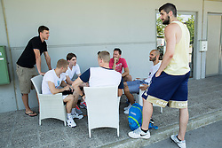 Athletes during meeting of Slovenian National Nasketball Team at the beginning of Training camp for Eurobasket 2015, on July 18, 2015 in Ljubljana, Slovenia. Photo by Vid Ponikvar / Sportida