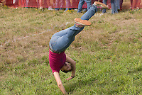 In August the annual cheese rolling contest brings athletic contestants to Whistler, BC, Canada. The first to catch the rolling cheese as it heads down Blackcomb Mountain wins a seasons' ski pass. A Huck Yourself contest is held between races.