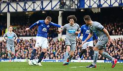 Everton's James McCarthy scores the opening goal   - Photo mandatory by-line: Matt McNulty/JMP - Mobile: 07966 386802 - 15/03/2015 - SPORT - Football - Liverpool - Goodison Park - Everton v Newcastle United - Barclays Premier League