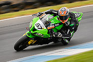 Bryan Staring (67) riding for Kawasaki BCperformance in Q1 during round 6 of the Australian Superbike Championship on October 05, 2019 at Phillip Island Circuit, Victoria. (Image Dave Hewison/ Speed Media)