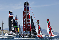 17.04.2013, Neapel, ITA, Americas Cup World Series 2013, im Bild Boote // during Americas Cup World Series 2013 Napoli, Italy on 2013/04/17. EXPA Pictures © 2013, PhotoCredit: EXPA/ Insidefoto/ Matteo Ciambelli ***** ATTENTION - for AUT, SLO, CRO, SRB, BIH and SWE only *****