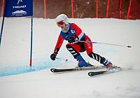 NEPSAC Giant Slalom at Gunstock with Rivers School.  ©2018 Karen Bobotas Photographer