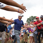 Jason Day, Australia, in action during the final round while winning the The Barclays Golf Tournament by six shots at The Plainfield Country Club, Edison, New Jersey, USA. 30th August 2015. Photo Tim Clayton