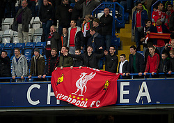 LONDON, ENGLAND - Sunday, February 6, 2011: Liverpool supporter during the Premiership match against Chelsea at Stamford Bridge. (Photo by David Rawcliffe/Propaganda)