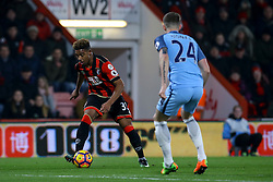 Jordon Ibe of Bournemouth in action - Mandatory by-line: Jason Brown/JMP - 13/02/2017 - FOOTBALL - Vitality Stadium - Bournemouth, England - Bournemouth v Manchester City - Premier League