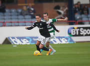 Dundee&rsquo;s Scott Allan bursts away from Buckie Thistle&rsquo;s Kevin Fraser - Dundee v Buckie Thistle, Betfred Cup at Dens Park, Dundee, Photo: David Young<br /> <br />  - &copy; David Young - www.davidyoungphoto.co.uk - email: davidyoungphoto@gmail.com