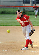 FAIRLESS HILLS, PA - MAY 27:  Bristolpitcher Mary Wallick throws a pitch against Morrisville during a District One Class A softball semifinal game May 27, 2014 in Fairless Hills, Pennsylvania. Bristol defatted Morrisville 10-0 in five innings. (Photo by William Thomas Cain/Cain Images)