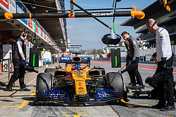 February 18, 2019 - Montmelo, BARCELONA, Spain - Circuit de Barcelona Catalunya, BARCELONA, 18 of february 2019. Carlos Sainz driver of Mc Claren during the first day of Test at Circuit de Barcelona Catalunya (Credit Image: © AFP7 via ZUMA Wire)