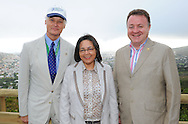 CAPE TOWN, South Africa: Sunday 2 December 2012, Bernard Weber, Mayor Patricia De Lille and Jean-Paul de la Fuente during the unveiling of the plaque ceremony of Table Mountain as one of the new 7 wonders of the nature..Photo by Roger Sedres