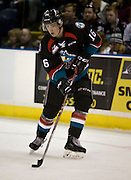 KELOWNA, CANADA - SEPTEMBER 24: Kole Lind #16 of the Kelowna Rockets shoots the puck at the Kelowna Rockets game on September 24, 2016 at Prospera Place in Kelowna, British Columbia, Canada.  (Photo By Cindy Rogers/Nyasa Photography,  *** Local Caption ***