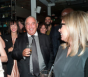 SIR PHILIP GREEN; RONNIE NEWHOUSE, Leaving dinner for Kate Phelan given by Alex Shulman and Mary Homer. Riding House Cafe. Great Titchfield st. London. 20 September 2011. <br /> <br />  , -DO NOT ARCHIVE-© Copyright Photograph by Dafydd Jones. 248 Clapham Rd. London SW9 0PZ. Tel 0207 820 0771. www.dafjones.com.