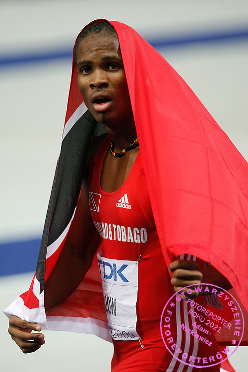 BERLIN 21/08/2009..12th IAAF World Championships in Athletics Berlin 2009..Renny Quow of Trinidad and Tobago celebrates after the men's 400 metres final during the world athletics championships at the Olympic stadium in BerlinPhot: Piotr Hawalej / WROFOTO
