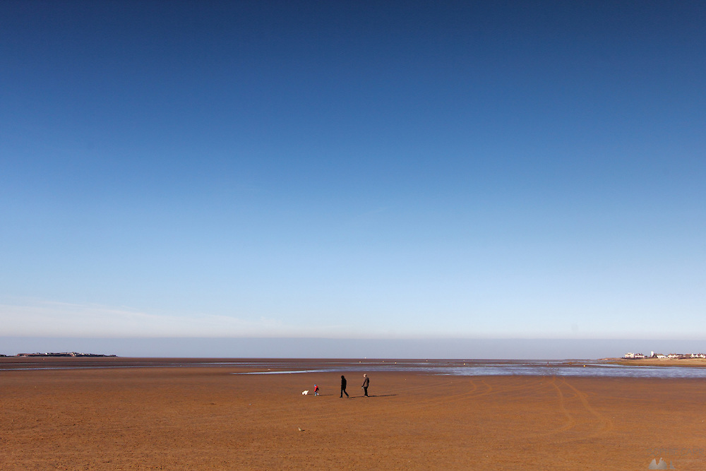 Morning walk on the beach in West Kirby, on the Wirral Peninsular, near Liverpool.