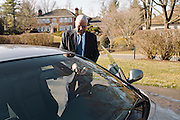 Former United States Secretary of State, Gen. Colin Powell drives to work from his home in McLean, Va. to Alexandria in his wife's BMW. Powell's book, It Worked For Me, will be released in German.