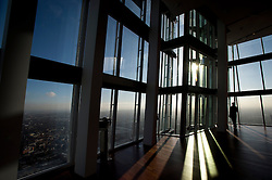 **PICTURES STRICTLY EMBARGOED INTIL 00:01 HOURS FRIDAY 11 JANUARY 2013** © London News Pictures. London, UK.  Media preview of the viewing level of The Shard building in London ahead of the public opening of 'A View From The Shard' on February 1, 2013. The public can view a 360 degree view of the capital from the 72nd floor of Western Europe's tallest building which stands at 800ft (244m).  Photo credit : Ben Cawthra/LNP