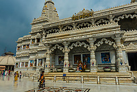 Prem Mandir Hindu Temple, Vrindavan, near Mathura, Uttar Pradesh, India.