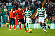 Dundee United Midfielder Scott Fraser on the run during the Ladbrokes Scottish Premiership match between Celtic and Dundee United at Celtic Park, Glasgow, Scotland on 25 October 2015. Photo by Craig McAllister.