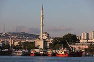 Turkey. Istambul. Asian side. kadikoy. Mosquee on Bosphorus