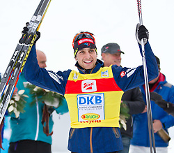 19.12.2011, Casino Arena, Seefeld, AUT, FIS Nordische Kombination, Langauf 10 km, im Bild Janson Lamy Chappuis (FRA, 1. Platz) // Janson Lamy Chappuis of France first place during the cross-country skiing 10 km at FIS Nordic Combined World Cup in Sefeld, Austria on 20111211. EXPA Pictures © 2011, PhotoCredit: EXPA/ P.Rinderer