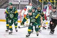 2019-10-15   Umeå, Sweden: Björklöven (91) Justin Crandall scores 1-1 in HockeyAllsvenskan during the game  between Björklöven and Västervik at A3 Arena ( Photo by: Michael Lundström   Swe Press Photo )<br /> <br /> Keywords: Umeå, Hockey, HockeyAllsvenskan, A3 Arena, Björklöven, Västervik, mlbv191015