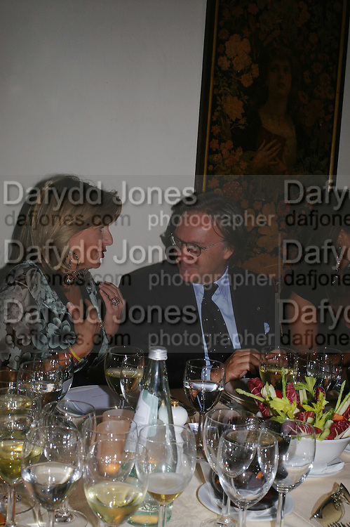 Princess Chantal of Hanover and  Diego della Valle. Tod's hosts Book signing with Dante Ferretti celebrating the launch of 'Ferretti,- The art of production design' by Dante Ferretti. after-party at San Lorenzo. 19 April 2005.  ONE TIME USE ONLY - DO NOT ARCHIVE  © Copyright Photograph by Dafydd Jones 66 Stockwell Park Rd. London SW9 0DA Tel 020 7733 0108 www.dafjones.com