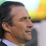 EAST RUTHERFORD, NEW JERSEY - JUNE 26:   Chile national football team manager Juan Antonio Pizzi on the sideline during the Argentina Vs Chile Final match of the Copa America Centenario USA 2016 Tournament at MetLife Stadium on June 26, 2016 in East Rutherford, New Jersey. (Photo by Tim Clayton/Corbis via Getty Images)