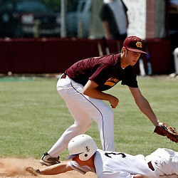 17 April 2010: during a prep baseball match up between the St. Thomas Aquinas Falcons and the Northlake Christian Wolverines at Falcon Field in Hammond, Louisiana.