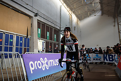 Lucinda Brand at Omloop het Nieuwsblad - Elite Women - 2018 - a 122 km road race on February 24, 2018, from Gent to Ninove, Belgium. (Photo by Sean Robinson/Velofocus.com)