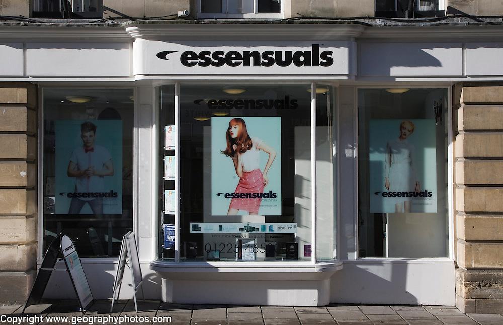 Branch of essensuals hairdressing salon chain, Bath, Somerset, England