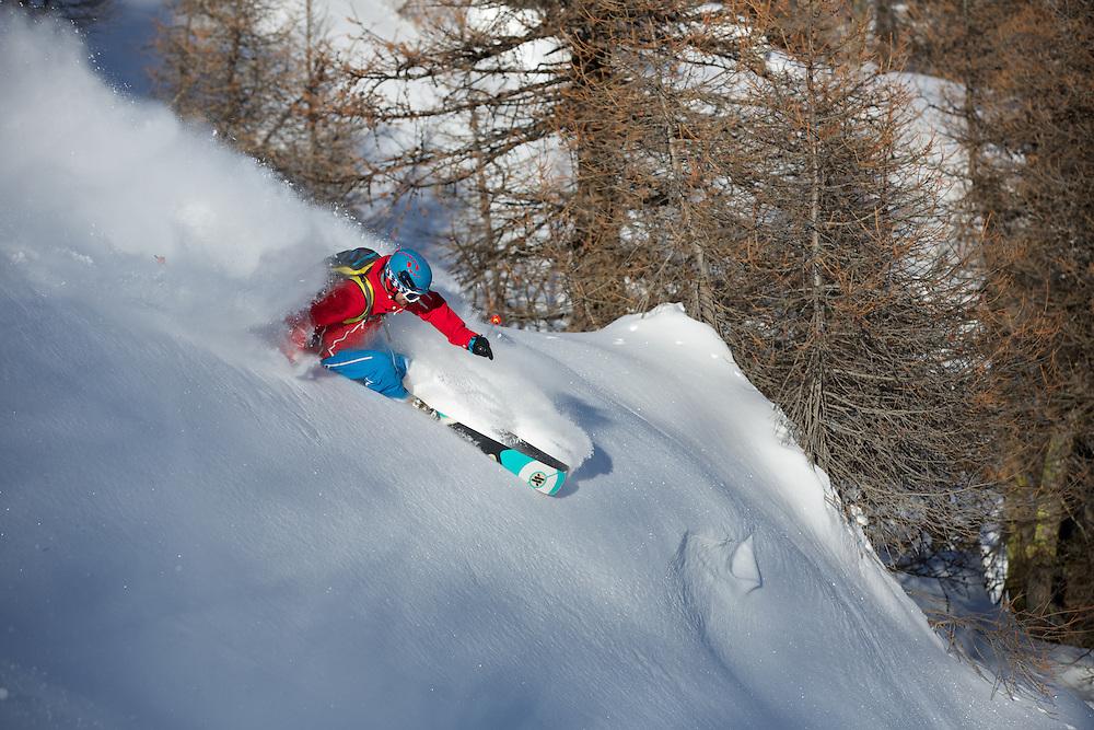 Skiing, Serre Chevalier, Hautes Alpes, France.