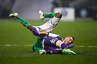 Dragos Grigore / LandryN Guemo - 28.02.2015 - Toulouse / Saint Etienne - 27eme journee de Ligue 1 -<br />