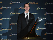 Dec 20, 2018; San Antonio, TX, USA; Men's 2013 winner Derek Drouin of Indiana poses at the 10th Bowerman Awards at the JW Marriott San Antonio Hill Country Resort & Spa.