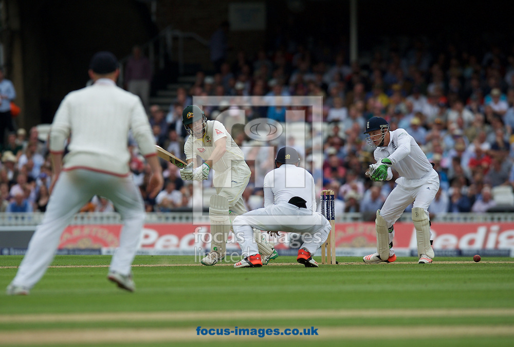 Adam Voges of Australia turns the ball away for four during the 5th Investec Ashes Test Match match at the Kia Oval, London<br /> Picture by Alan Stanford/Focus Images Ltd +44 7915 056117<br /> 20/08/2015