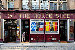 Exterior of famous Horseshoe Bar in Glasgow, Scotland, united Kingdom