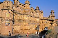 Inde. Madhya Pradesh. Gwalior. Fort Palais de Man Singh // India. Madhya Pradesh. Gwalior. Man singh Palace.